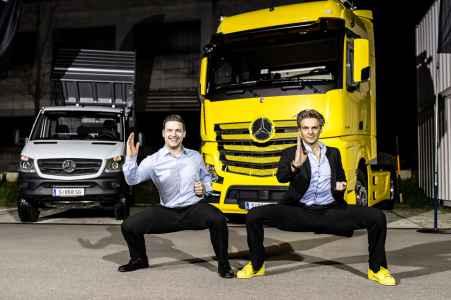 Mercedes Truck Van Event in der Panzerhalle Salzburg