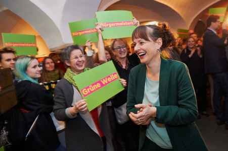 Wahlauftakt der Bürgerliste und der Grünen im Schauspielhaus in Salzburg