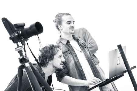 Fotograf Frank Wimmer für die Kampagne der WKS Lehre sei gscheit im Mietstudio